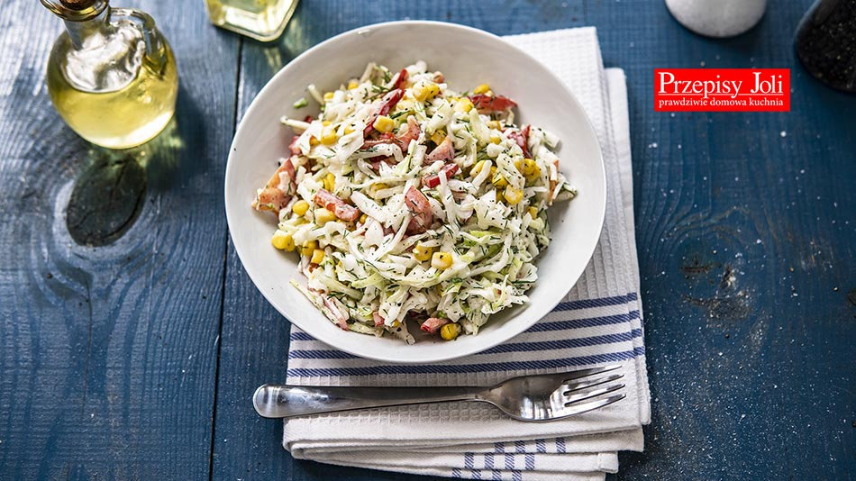 WHITE CABBAGE AND CORN SALAD RECIPE